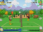 Tticky duck volleyball